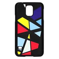 Colorful Geomeric Desing Samsung Galaxy S5 Case (black) by Valentinaart