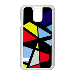 Colorful Geomeric Desing Samsung Galaxy S5 Case (white) by Valentinaart