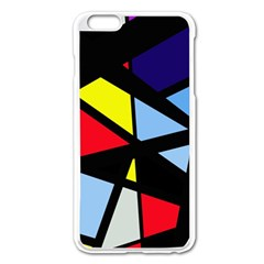 Colorful Geomeric Desing Apple Iphone 6 Plus/6s Plus Enamel White Case by Valentinaart