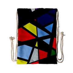 Colorful Geomeric Desing Drawstring Bag (small) by Valentinaart