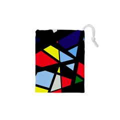 Colorful Geomeric Desing Drawstring Pouches (xs)  by Valentinaart