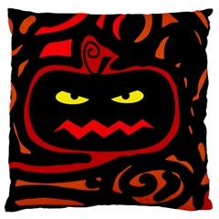 Halloween Pumpkin Large Cushion Case (two Sides) by Valentinaart