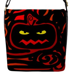 Halloween Pumpkin Flap Messenger Bag (s) by Valentinaart