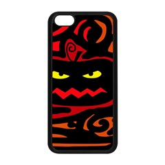Halloween Pumpkin Apple Iphone 5c Seamless Case (black) by Valentinaart
