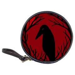 Halloween Raven   Red Classic 20 Cd Wallets by Valentinaart