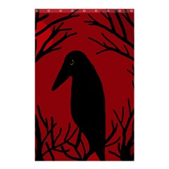 Halloween Raven   Red Shower Curtain 48  X 72  (small)  by Valentinaart