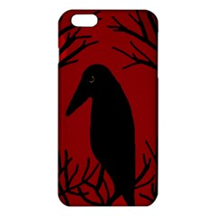 Halloween Raven   Red Iphone 6 Plus/6s Plus Tpu Case by Valentinaart