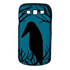 Halloween Raven   Blue Samsung Galaxy S Iii Classic Hardshell Case (pc+silicone) by Valentinaart