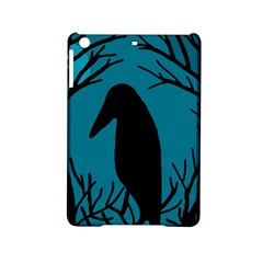 Halloween Raven   Blue Ipad Mini 2 Hardshell Cases by Valentinaart