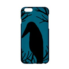 Halloween Raven   Blue Apple Iphone 6/6s Hardshell Case by Valentinaart