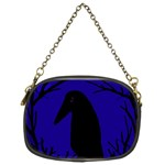 Halloween raven - deep blue Chain Purses (Two Sides)  Front