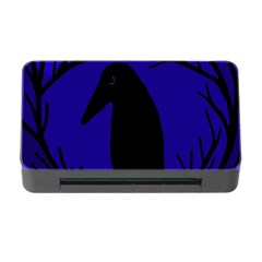 Halloween Raven   Deep Blue Memory Card Reader With Cf by Valentinaart