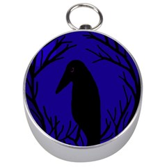 Halloween Raven   Deep Blue Silver Compasses by Valentinaart