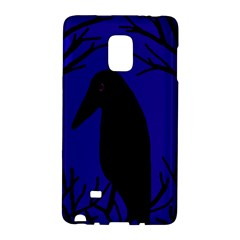 Halloween Raven   Deep Blue Galaxy Note Edge by Valentinaart