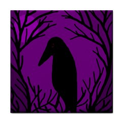 Halloween Raven   Purple Tile Coasters by Valentinaart