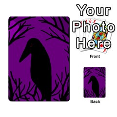 Halloween Raven   Purple Multi Purpose Cards (rectangle)