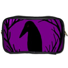 Halloween Raven   Purple Toiletries Bags