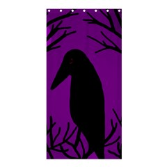 Halloween Raven   Purple Shower Curtain 36  X 72  (stall)  by Valentinaart
