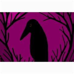 Halloween Raven   Magenta Collage Prints by Valentinaart