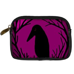 Halloween Raven   Magenta Digital Camera Cases by Valentinaart