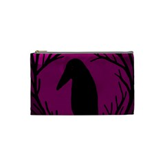 Halloween Raven   Magenta Cosmetic Bag (small)  by Valentinaart