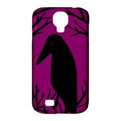 Halloween Raven   Magenta Samsung Galaxy S4 Classic Hardshell Case (pc+silicone) by Valentinaart