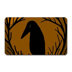 Halloween Raven   Brown Magnet (rectangular) by Valentinaart