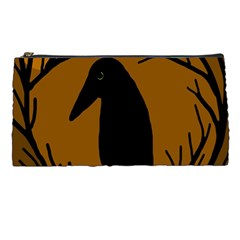 Halloween Raven   Brown Pencil Cases by Valentinaart