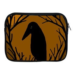 Halloween Raven   Brown Apple Ipad 2/3/4 Zipper Cases by Valentinaart