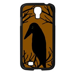 Halloween Raven   Brown Samsung Galaxy S4 I9500/ I9505 Case (black) by Valentinaart