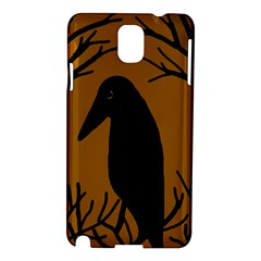 Halloween Raven   Brown Samsung Galaxy Note 3 N9005 Hardshell Case by Valentinaart