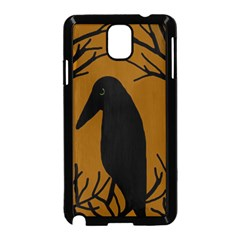 Halloween Raven   Brown Samsung Galaxy Note 3 Neo Hardshell Case (black) by Valentinaart