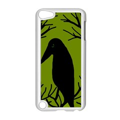 Halloween Raven   Green Apple Ipod Touch 5 Case (white) by Valentinaart
