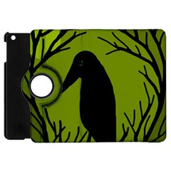 Halloween Raven   Green Apple Ipad Mini Flip 360 Case by Valentinaart