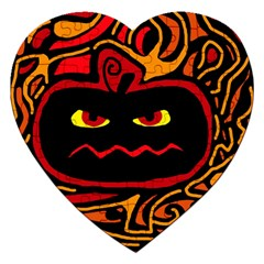 Halloween Decorative Pumpkin Jigsaw Puzzle (heart)