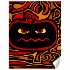 Halloween Decorative Pumpkin Canvas 12  X 16   by Valentinaart