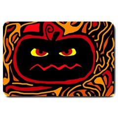 Halloween Decorative Pumpkin Large Doormat  by Valentinaart