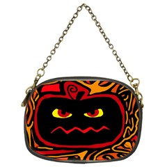 Halloween Decorative Pumpkin Chain Purses (two Sides)  by Valentinaart