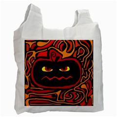 Halloween Decorative Pumpkin Recycle Bag (one Side) by Valentinaart