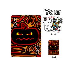 Halloween Decorative Pumpkin Playing Cards 54 (mini)  by Valentinaart