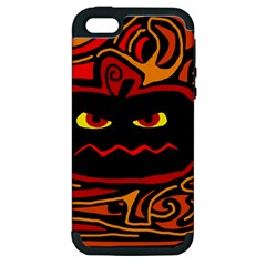 Halloween Decorative Pumpkin Apple Iphone 5 Hardshell Case (pc+silicone) by Valentinaart
