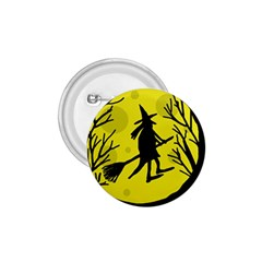 Halloween Witch   Yellow Moon 1 75  Buttons by Valentinaart