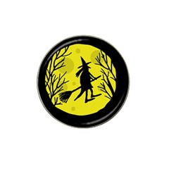 Halloween Witch   Yellow Moon Hat Clip Ball Marker by Valentinaart