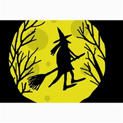 Halloween Witch   Yellow Moon Collage Prints by Valentinaart