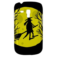 Halloween Witch   Yellow Moon Samsung Galaxy S3 Mini I8190 Hardshell Case by Valentinaart
