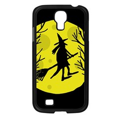Halloween Witch   Yellow Moon Samsung Galaxy S4 I9500/ I9505 Case (black) by Valentinaart