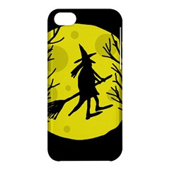 Halloween Witch   Yellow Moon Apple Iphone 5c Hardshell Case by Valentinaart