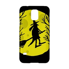 Halloween Witch   Yellow Moon Samsung Galaxy S5 Hardshell Case