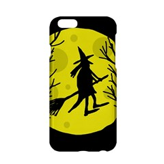 Halloween Witch   Yellow Moon Apple Iphone 6/6s Hardshell Case