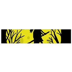 Halloween Witch   Yellow Moon Flano Scarf (small) by Valentinaart